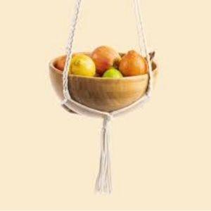 ALTRU Macrame Plant/Fruit Bowl Hanger NWOT